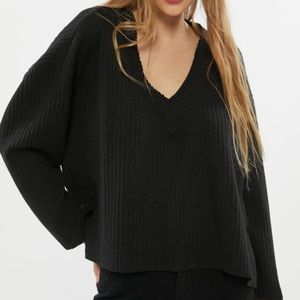 Urban Outfitters Anka Slouchy V-Neck Top